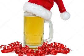 cerveza con gorro navidad
